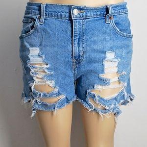 Levi's Boyfriend Slouchy Jean shorts 35